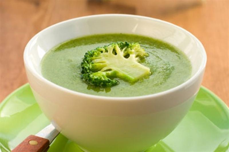 Крем-суп из брокколи с плавленым сыром