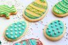 Пасхальное печенье в белковой глазури